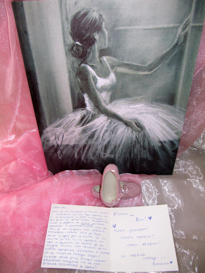 SPECIAL GIFT FROM MY BALLERINA VANESSA AFTER SEGOVIA, SPAIN