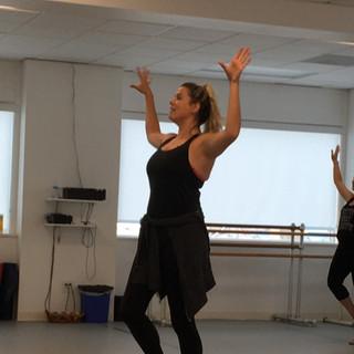 Stephanie teaching Rockette Class