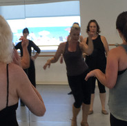 Marie showing us the choreo