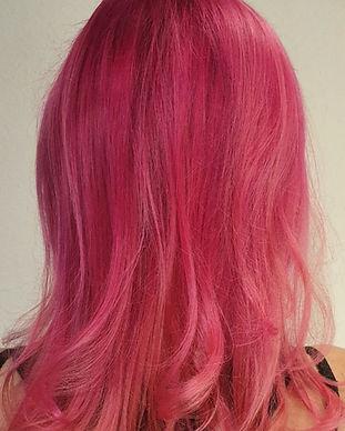 Pink Pinke Haarfarbe Unicorn Hair Hairstylist Makeupartist Visagist Zürich Schweiz Haarfarben