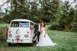 Brautpaar VW Golf