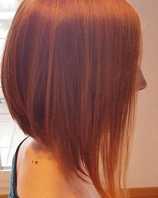Haarschnitt Bob Kupfer Haare Haarfarbe Coiffeur Zürich Winkel Schweiz Bülach Haircolor Copper
