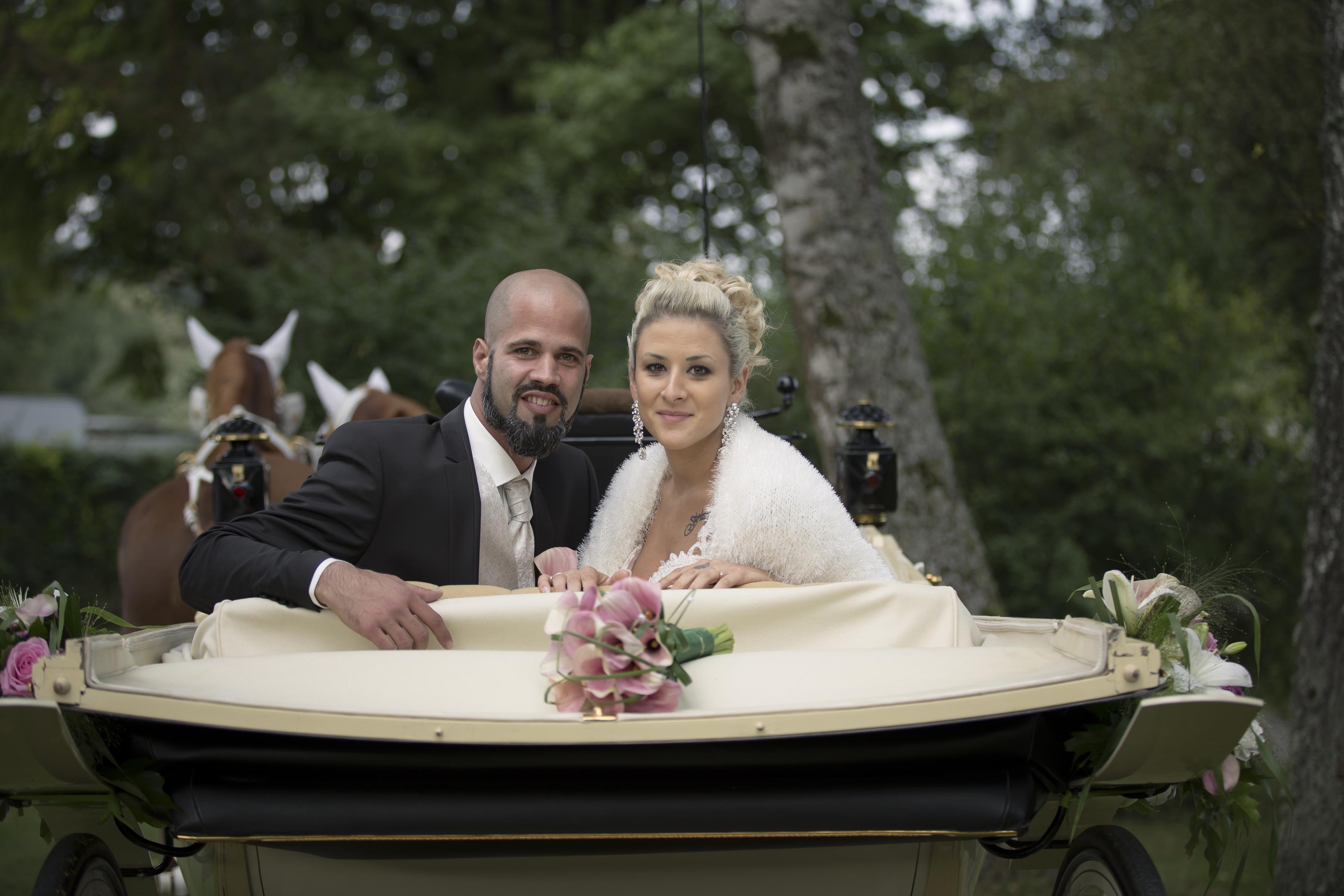 Brautpaar Kutsche