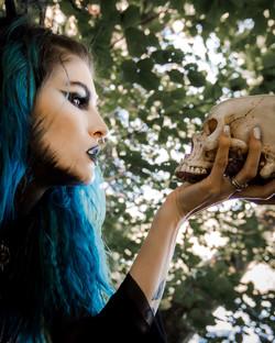 Wicca Shooting Skull