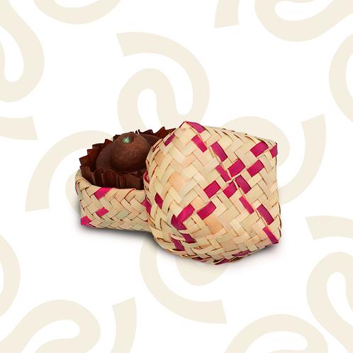 Caja de palma con 1 chocolate