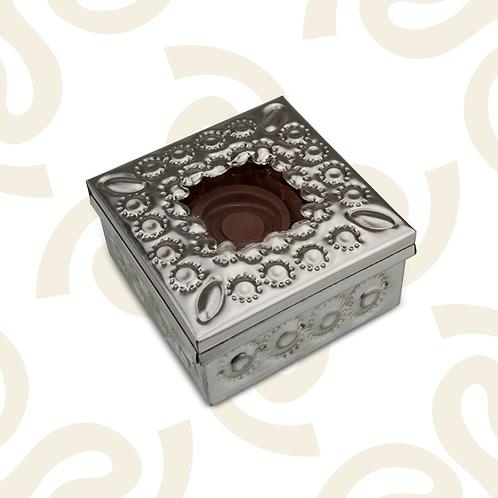 Caja de hojalata de 4 chocolates