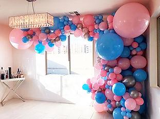 Balloon swoop gender reveal