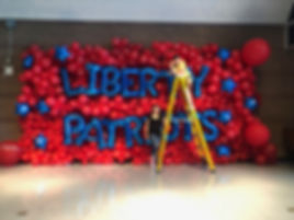 Balloon Wall 10x22 feet by Elephant Balloons