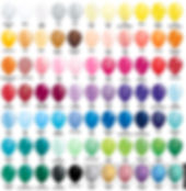Elephant Balloons Color Chart for Swags.