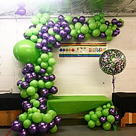 All those green ZEN balloons captured in