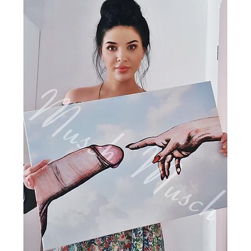 """Poster """"DER SCHWANZ GOTTES"""" 50x75 cm"""