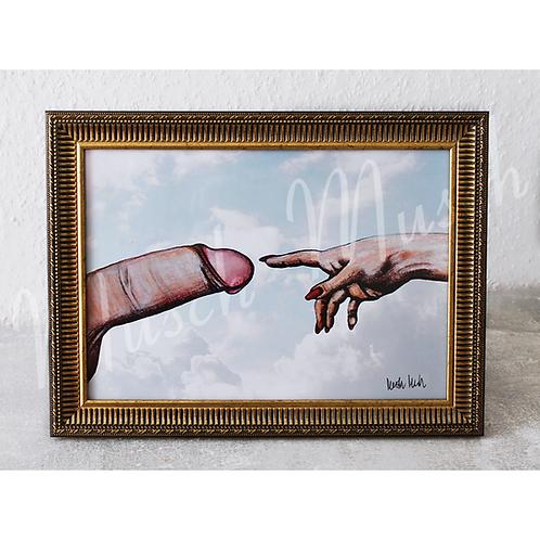 """Wandbild """"DER SCHWANZ GOTTES"""" - 20x30 cm mit original Unterschrift"""