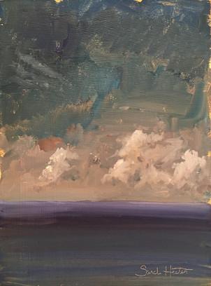 Sea & Sky, 7.5 x10 oil by Sandi Hester