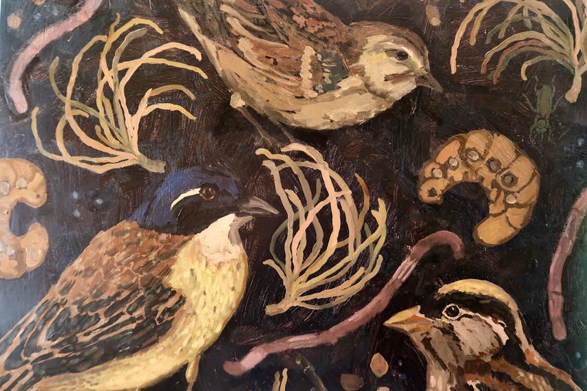 Detail of Birds & Twigs n.2