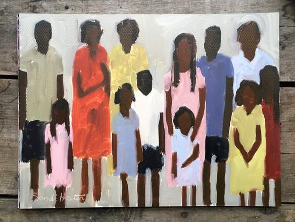 """African Women & Children, """"Squeeze In"""""""
