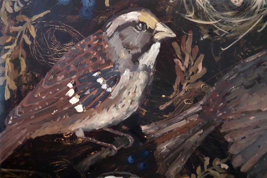Detail of Birds & Twigs n.5