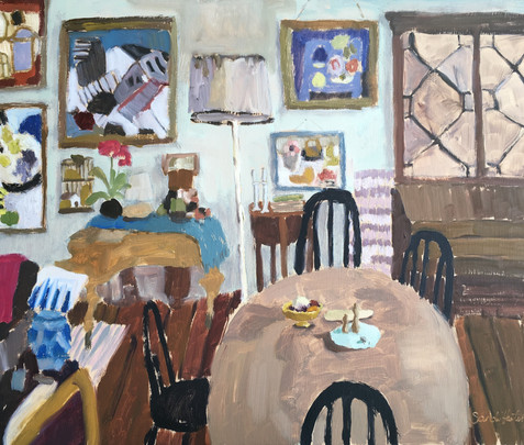 Mary Fedden's house, 15x18 oil by Sandi Hester