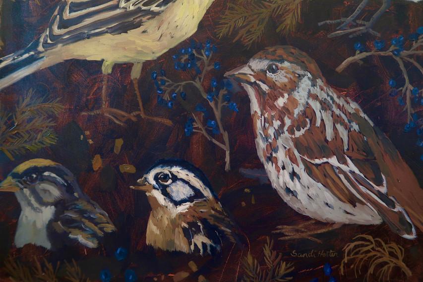 Detail of Birds & Twigs n.1