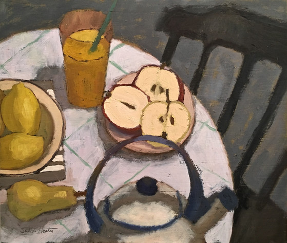 Afternoon snack, 18x15 oil by Sandi Hester