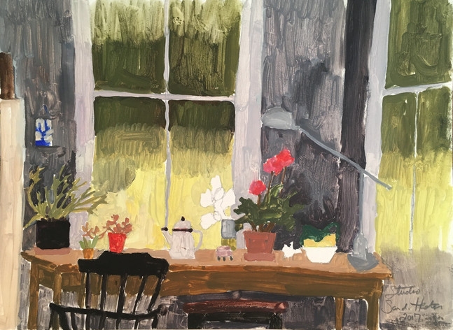 The Studio, 9x12 oil by Sandi Hester