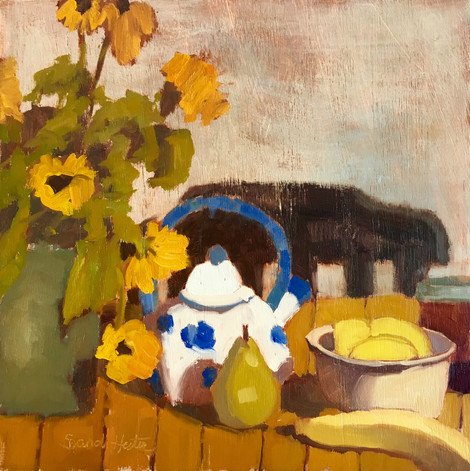 Summer Day, 12x12 oil by Sandi Hester