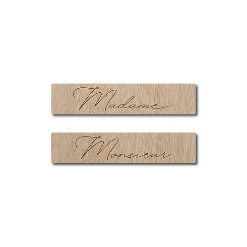 Pancarte - Madame Monsieur