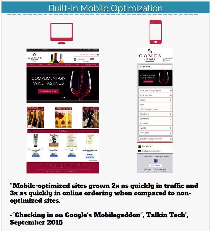 Desktop and mobile optimization