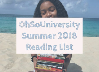 #OhSoUniversity | Summer Reading List