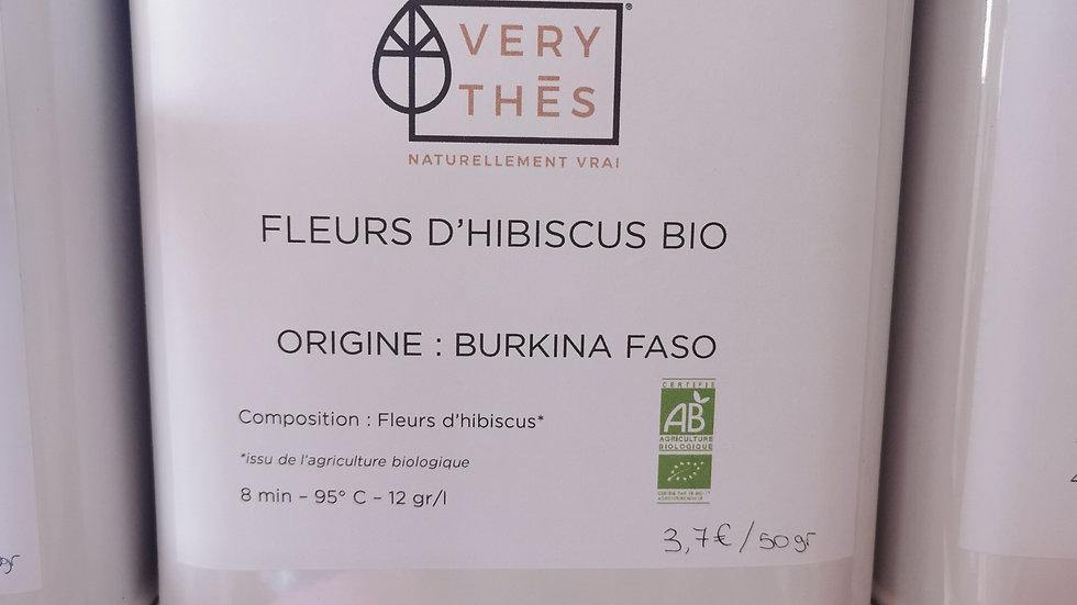Thé en vrac - Fleurs d'hibiscus Bio