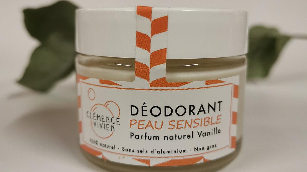 Déodorant peaux sensibles - Vanille