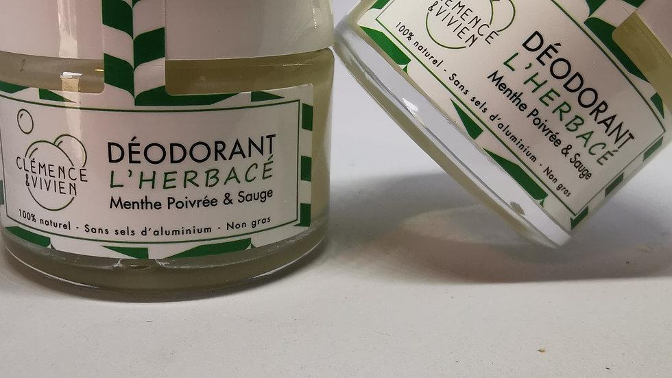 Déodorant crème - l'herbacé