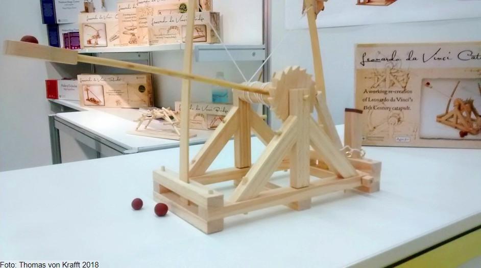 Katapult-Nachbau, Original: Leonardo da Vinci