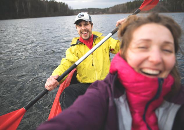 Birthday Kayaking in Asveja lake
