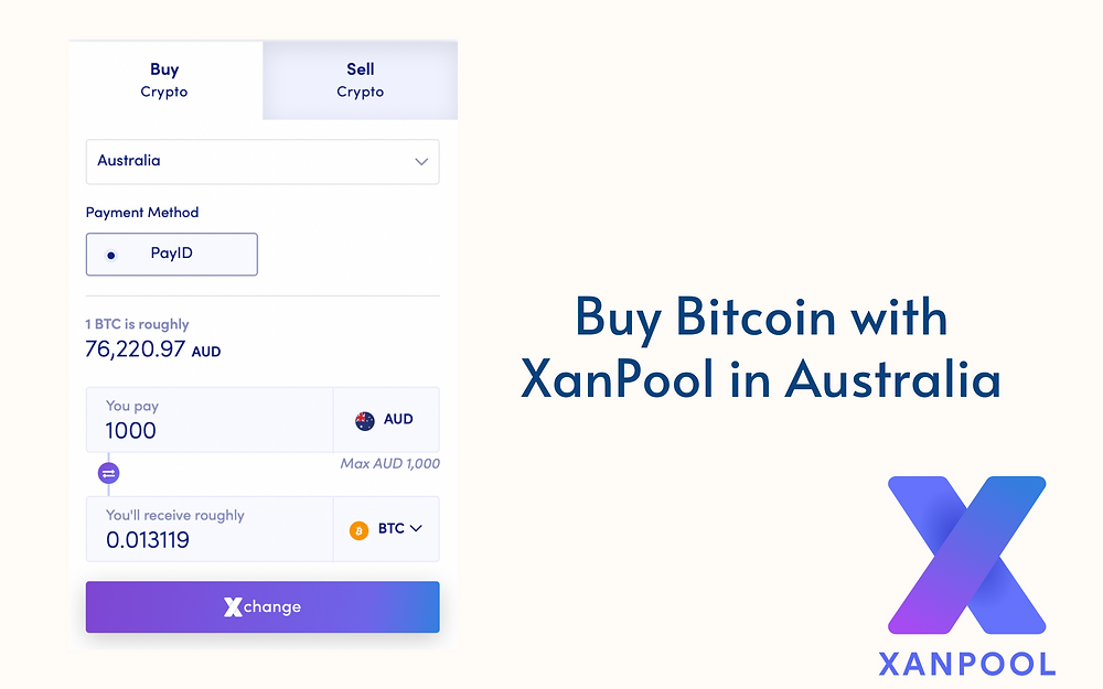 Buy Bitcoin with XanPool in Australia