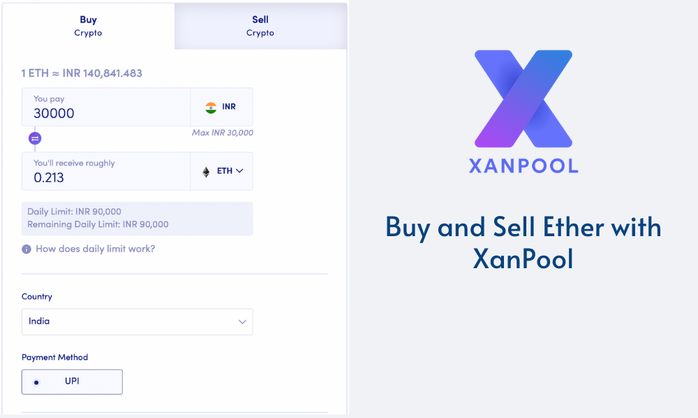 Buy and sell Ethereum with XanPool