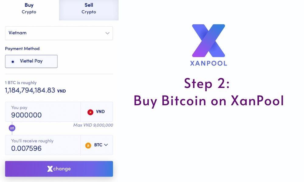buy bitcoin from XanPool