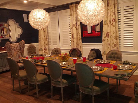 Dining Room with Eclectic Elements