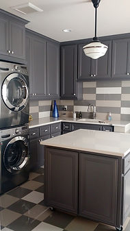 Laundry Room Grey hues/backsplash