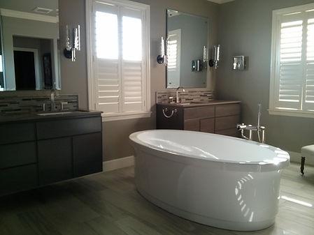 Master Bath. Monochromatic and Serene.