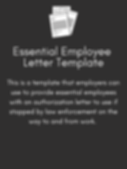Essential Employee Letter Template Butto