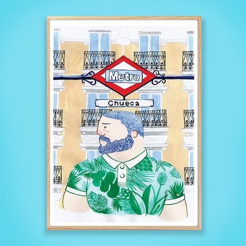 Chueca Madrid Colour Print
