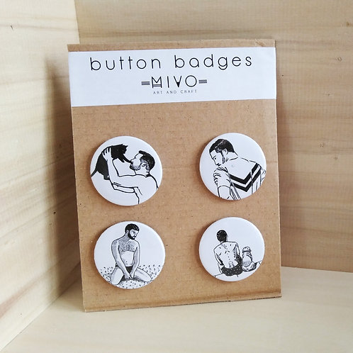 Pack of 4 Pins