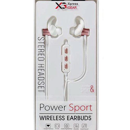 181 - Wireless Bluetooth Earbuds (White Rose)