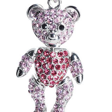 PINK TEDDY BEAR KC57