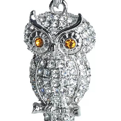RHINESTONE OWL KC83
