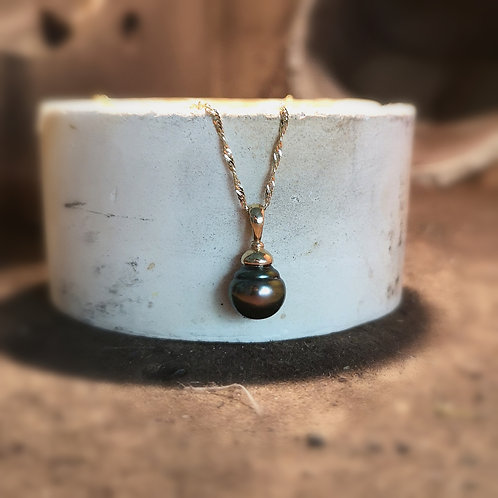 Perle de tahiti or jaune