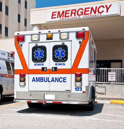 Ambulance at Emergency Department of Hospital