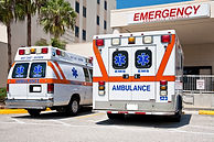 ambulances sanitized by UV lite and steam