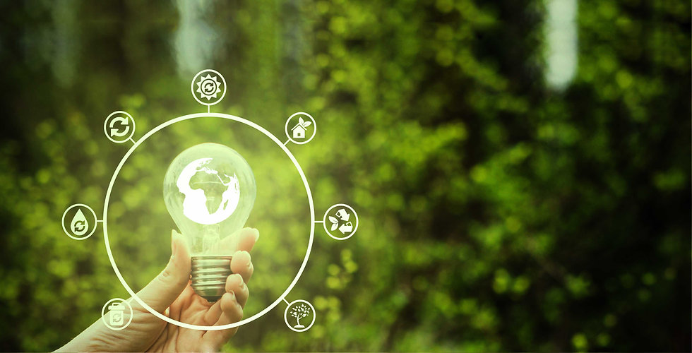 Cleantech bulb powered by kpmpower energy showcasing sustainable and ecofriendly energy options.