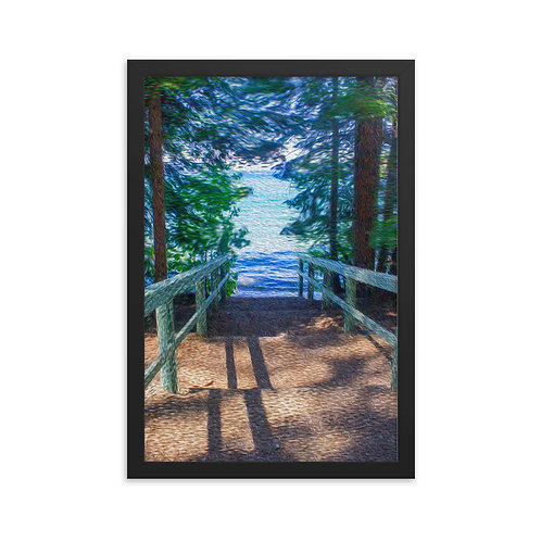 Step into Paradise - Framed poster